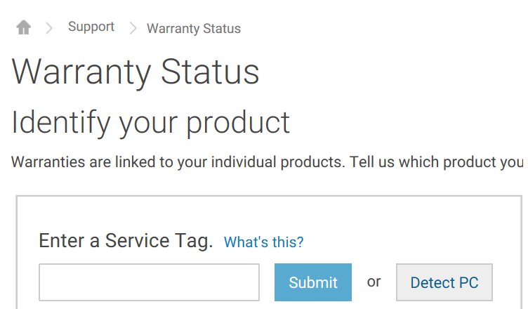 Dell Warranty Check