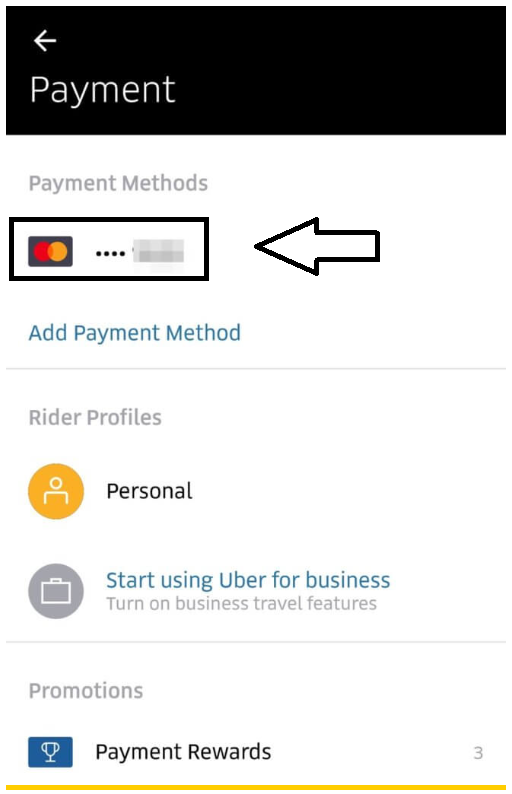 How to Remove A Credit Card from Uber