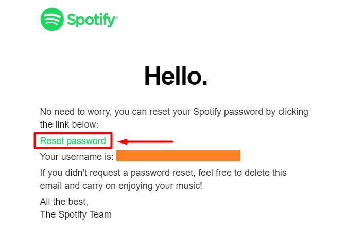 spotify reset password