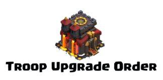 TH10 Troop Upgrade Order